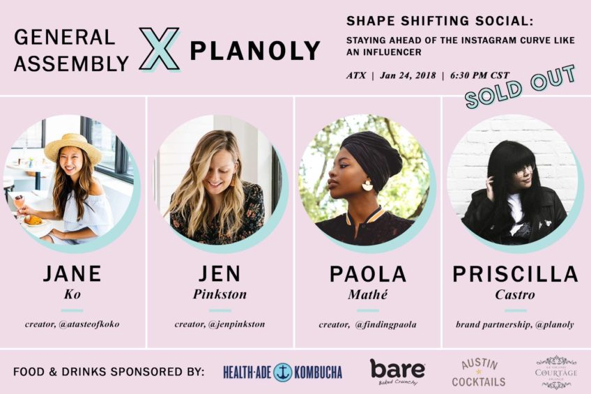 Planoly influencer panel in Austin.