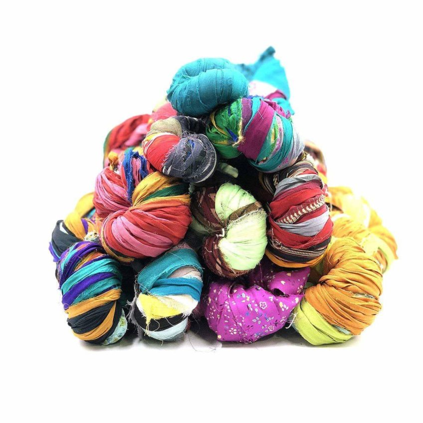 Colorful chiffon yarn