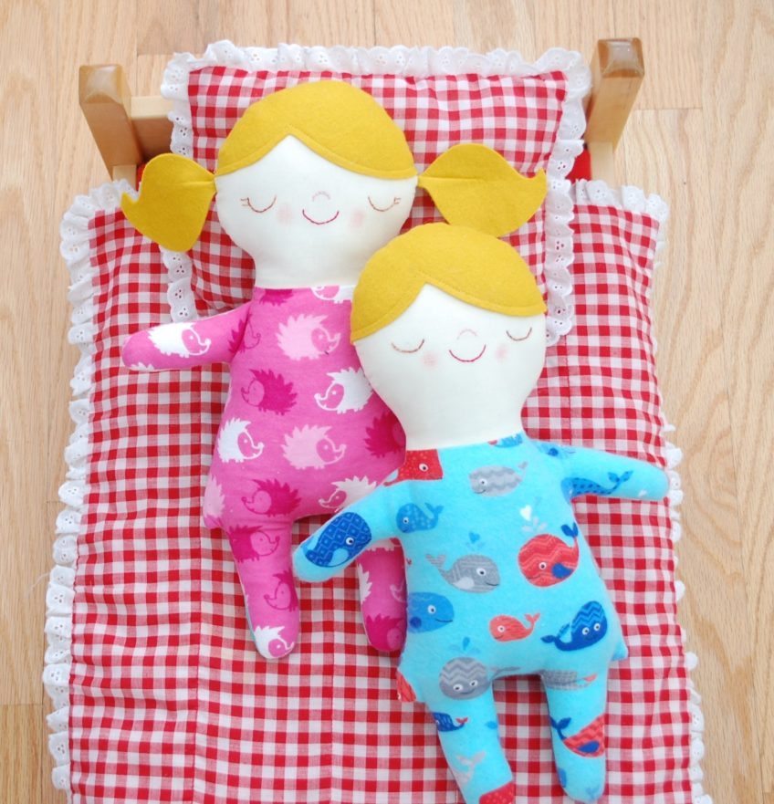 While She Naps doll pattern