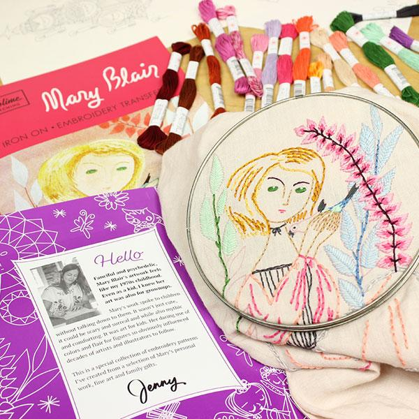 Sublime Stitching embroidery pattern with artist Mary Blair