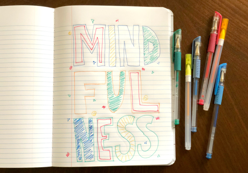 Doodle of mindfulness by Marie LeBaron