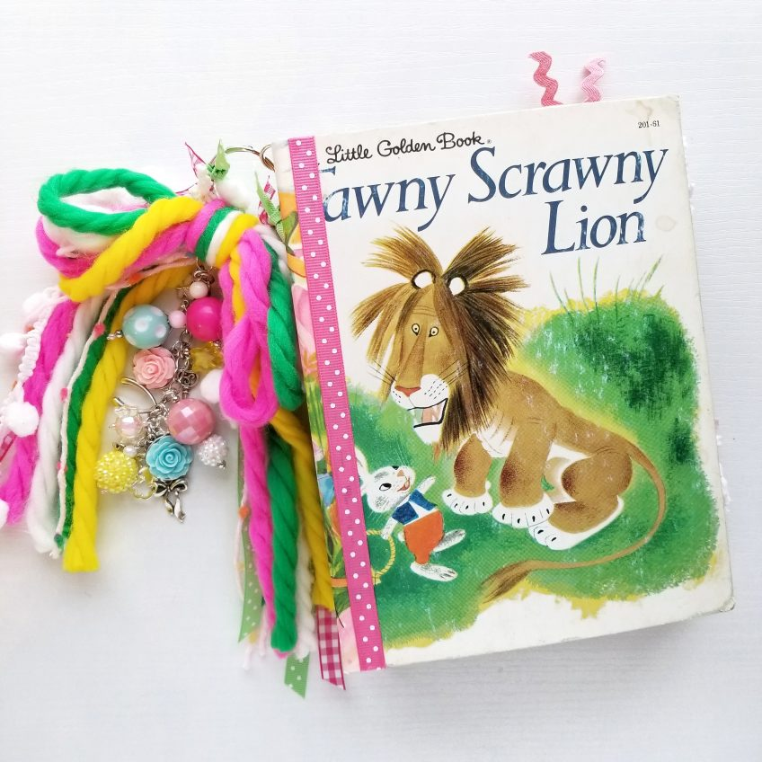 Tawny Scrawny Lion Junk Journal by Kitty Witty Paper Crafts