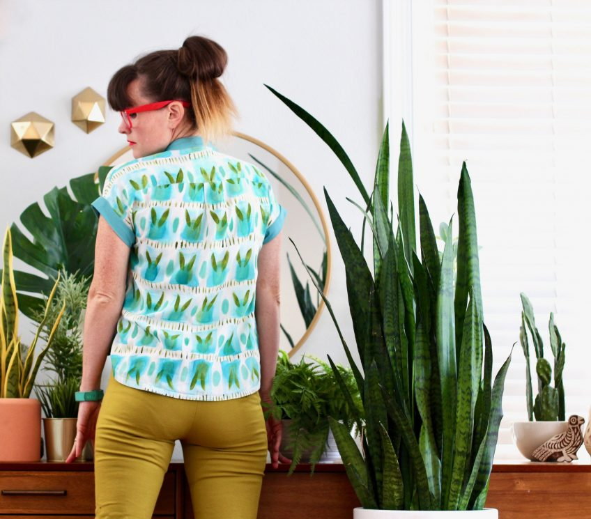 Fabric designer Katie Kortman